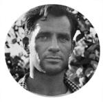 Moldura com foto do escritor Jack Kerouac.