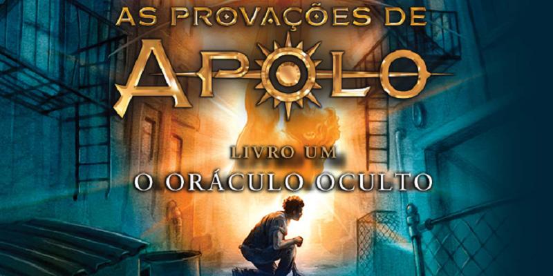"""Capa do livro """"As Provações de Apolo - O Oráculo Oculto"""", de Rick Riordan."""