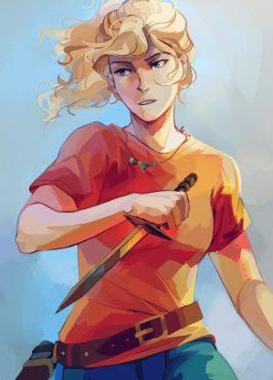 Ilustração da personagem Annabeth, da série 'Percy Jackson'.