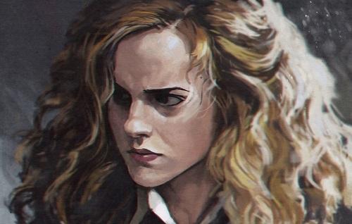 Ilustração de Hermione Granger, da série 'Harry Potter.