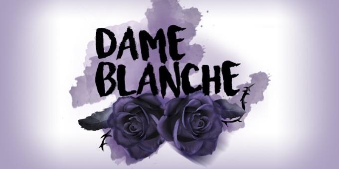 Logo da editora de livros Dame Blanche.